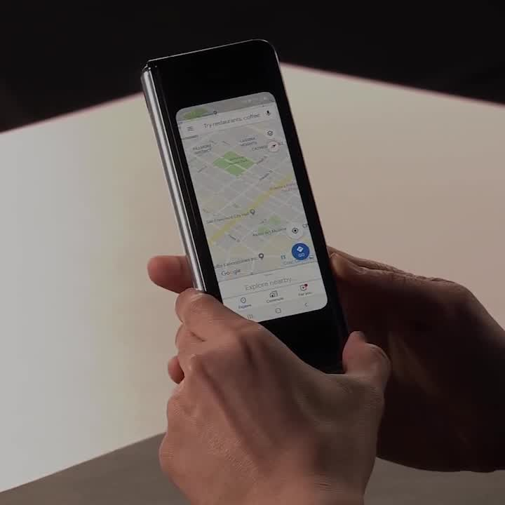 """Cheddar Inc. on LinkedIn: """"This is Galaxy Fold, Samsung's first foldable smart phone."""""""