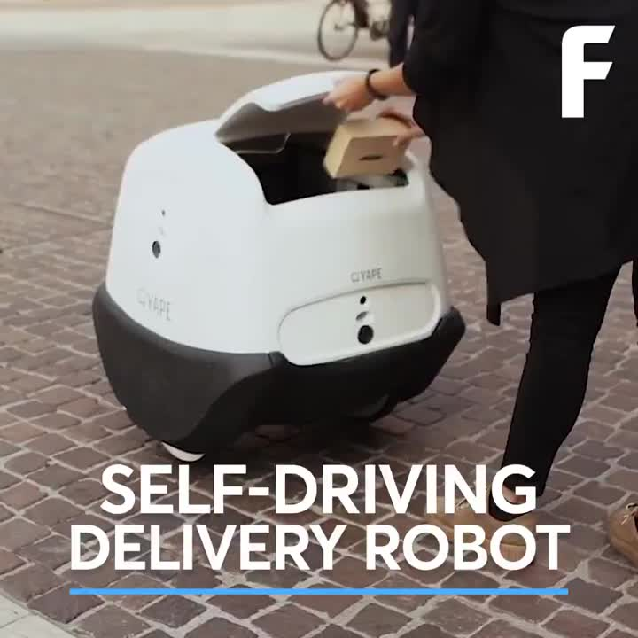 "Phillip Nunn on LinkedIn: ""Self-driving delivery robot carries packages."""