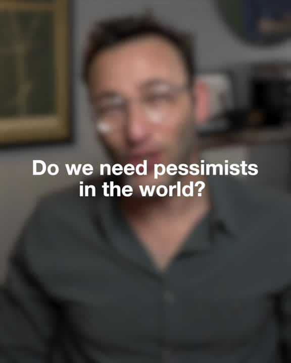"""Start With Why - Simon Sinek on LinkedIn: """"As an unapologetic optimist, I believe the only way to defeat pessimism is with optimism. So people often ask me, """"Doesn't the world need some pessimists, too?"""" This is what I tell them."""""""