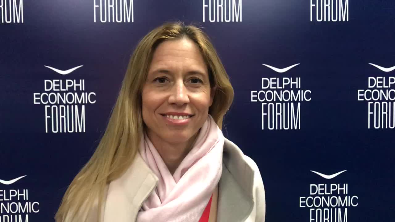 "Thalia Tzanetti on LinkedIn: ""Camille Egloff spoke in yesterday's panel on Shipping on the role technology has to play in its future, along with some of the biggest names of Greek Shipping. Watch her as she shares her key take-away  #bcgath  #shipping #bcg  #delphi_forum"""